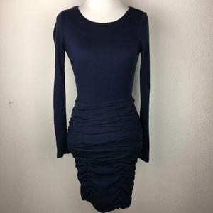 Alice + Olivia Navy Blue Sheath Dress Size 2